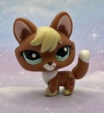 Littlest Pet Shop Authentic # 1126 Red Brown Blonde Fox Aqua Eyes