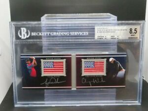 2014 UD Black Woods/Woods Pride Of A Nation Patch Auto Book #12/35 BGS 8.5/9 P97