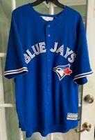Men's Majestic Toronto Blue Jays Blue Baseball Jersey Comfort MLB Size XXL