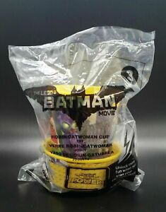 Happy Meal Toy Lego Batman Movie Robin / Catwoman Yellow Cup #3 in Bag