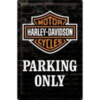 Blechschild Harley Davidson Parking,Nostalgie Schild 60 cm !!,NEU,Metal shield