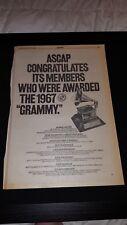 Grammy Awards 1968 Rare Original Promo Poster Ad Framed!
