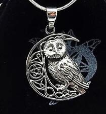Buho de plata esterlina en Pentagrama Moon Collar Regalo de producto con licencia de Lisa Parker