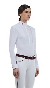Cavalleria Toscana tech with bib shirt in white size L.