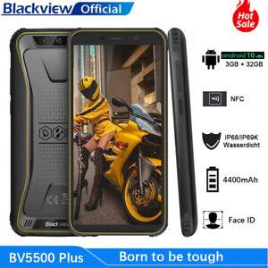 """Téléphone Incassable Blackview BV5500Plus Android 10.0 Dual SIM 4G 5,5"""" NFC 32Go"""