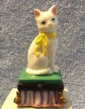Cat Porcelain Hinged Box Midwest of Cannon Falls