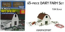 65-pc Kids DELUXE Country DAIRY FARM BARN SET Ranch Life Animals 1:64 Milk Cows