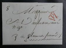 PLI adressé à Monsieur D'AUBUSSON  Ainé - P DANS UN TRIANGLE ROUGE - TEXTE 1806