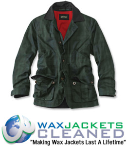 Clean & Rewaxing Service for Orvis Wax Jackets All Makes All Sizes All Colours