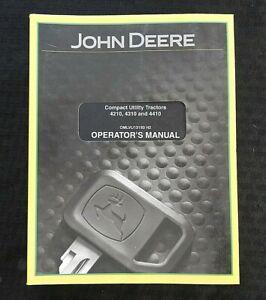 ORIGINAL JOHN DEERE 4210 4310 4410 COMPACT UTILITY TRACTOR OPERATORS MANUAL