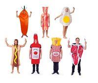 FOOD FUN FANCY DRESS COSTUME BACON/FRIEDEGG/HOTDOG/CARROT/STEAK ADULT ONE SIZE