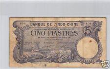 Bank- des'Indochina Saigon 5 Piaster 9 Juni 1913 A.39 Nr. 896 Pick 37b