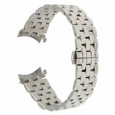 22Mm Stainless Steel Watch Band Curved End Strap Butterfly Buckle Bracelet Samsu