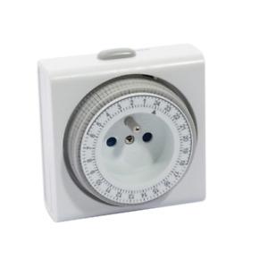 Programmateur journalier mécanique 24H minuteur prise programmable Pro compact