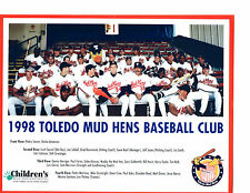 1998 TOLEDO MUD HENS TEAM 8X10 PHOTO  BASEBALL OHIO FARIES MARTINEZ IBARRA GOOF