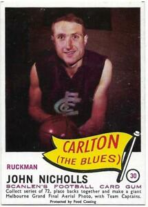 1966 Scanlens (30) John NICHOLLS Carlton  ::/