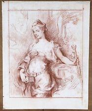 Dessin Original Ancien Sanguine Portrait Femme Henri LEVY (1840-1904) Salon 1903