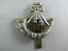 Military Cap Badge King's Shropshire Light Infantry British Army Bi-Metal