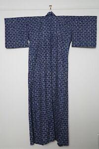 Traditional Japanese blue yukata kimono