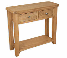Console Table Melbourne Country Oak 2 Drawer
