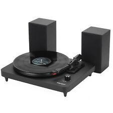 Intempo Black Portable Record Vinyl Player with Stereo Speakers MP3 Stereo Music