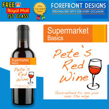 Personalised Supermarket Basics Wine Bottle Label, Funny, Perfect Birthday Gift