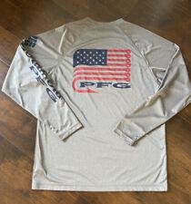 New ListingColumbia Pfg Terminal Tackle Longsleeve Usa Flag Swimming Fishing Shirt Sz M Men
