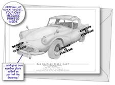 Daimler SP250 'Dart' 1960 greetings card