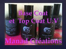 lot gel uv base +  top coat semi permanent  soak off 15 ml kit
