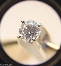 DIAMOND VVS2 VINTAGE 14K YELLOW & WHITE GOLD HIGH RISE SOLITARE RING