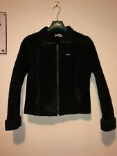 Lambretta Woman Real Leather Jacket Black Size 10