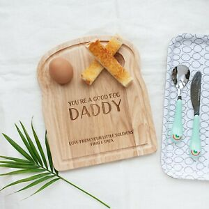 Personalised Daddy Dippy Egg Board, Father's Day Gifts, Eggs and Soldiers, Egg