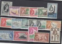 British Solomon Islands QEII 1956 Set To 10/- SG82/96 MH JK2953