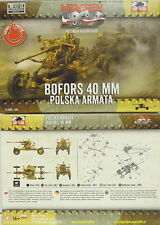 40 mm Flak Bofors mod.1936, First to Fight, 1/72 Plastic Model Kit, NEW
