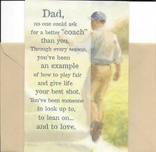 Happy Birthday Dad Best Coach & Example I Look Up To You Hallmark Greeting Card