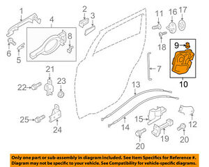 MITSUBISHI OEM 13-16 Outlander Sport Rear Door-Lock Actuator Motor 5745A426