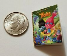Miniature Dollhouse Disney book Barbie 1/12 Scale Trolls Poppie Branch Movie  Q