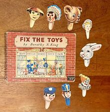 Fix The Toys, Antique Children's Movable Book From 1950