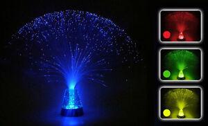 Sensory Fibre Optic Lamp Colour Changing Glitter Base 4Colours 13Inch Mood Light