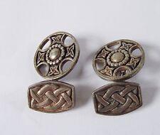 John Hart Gemelos para hombre plata esterlina Iona 925 escocés Cruz Joyería