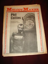 MELODY MAKER 1981 FEB 7 PHIL COLLINS NUMAN ROWAN ATKINSON BASEMENT 5 STRANGLERS