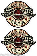 89 King Kerosin Set < 2x Race Gear >Aufkleber/Hot Rod/Rockabilly/Oldschool/Retro