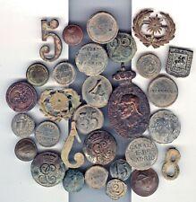 Cincin19,Spanish & French 30 buttons,badges Wars Peninsular, Carlist ,Realist