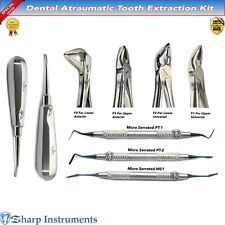 Atraumatic Extraction Instruments kit Dental Implant Periotome Luxation Elevator