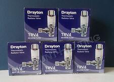 DRAYTON 15MM TRV4 ANGLED THERMOSTATIC RADIATOR VALVE x 5