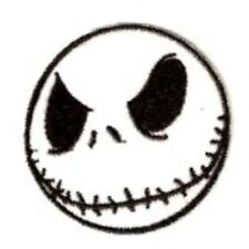 NIGHTMARE BEFORE CHRISTMAS JACK SKELLINGTON EMBROIDERED FACE PATCH 3 1/4""