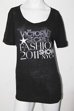 VICTORIA'S SECRET FASHION SHOW 2011 Tunic Tee Top T shirt SP M L Silver Graphic
