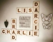 Wooden Scrabble Tiles Shapes Wall Decoration Gift (price Per Tile)