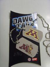 Minnesota golden gophers dawg tagz necklace key chain set collegiate Ncaa 49417