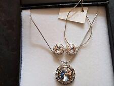 Genuine Swarovski Elements Clear Crystal Gift Boxed Jewellery Set